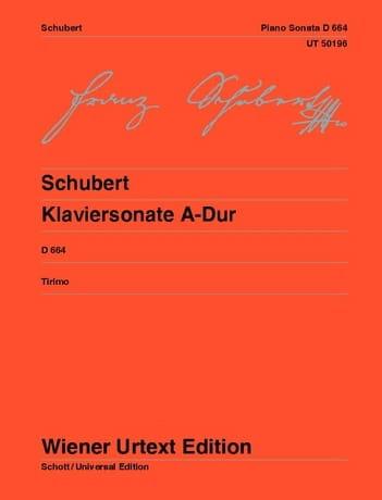 Sonate en la majeur D 664 Opus 120 - SCHUBERT - laflutedepan.com
