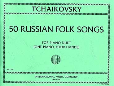 TCHAIKOWSKY - 50 Russian Folk Songs. 4 Hands - Partition - di-arezzo.co.uk