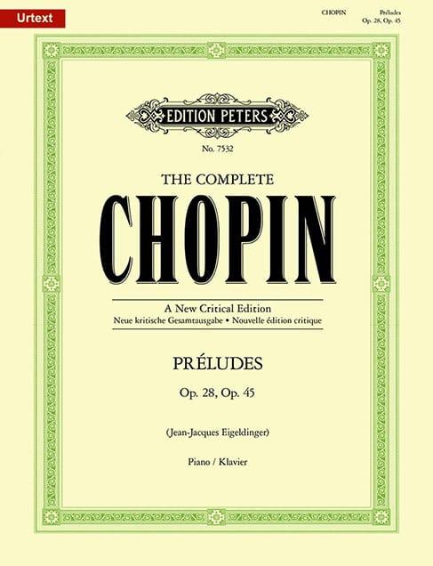 Préludes Opus 28 et 45. - CHOPIN - Partition - laflutedepan.com