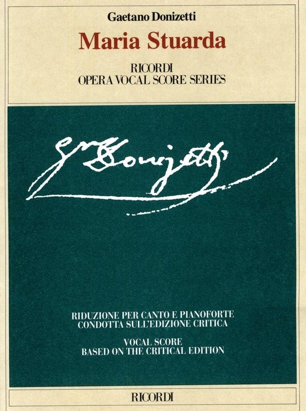 Gaetano Donizetti - Maria Stuarda - Partition - di-arezzo.es