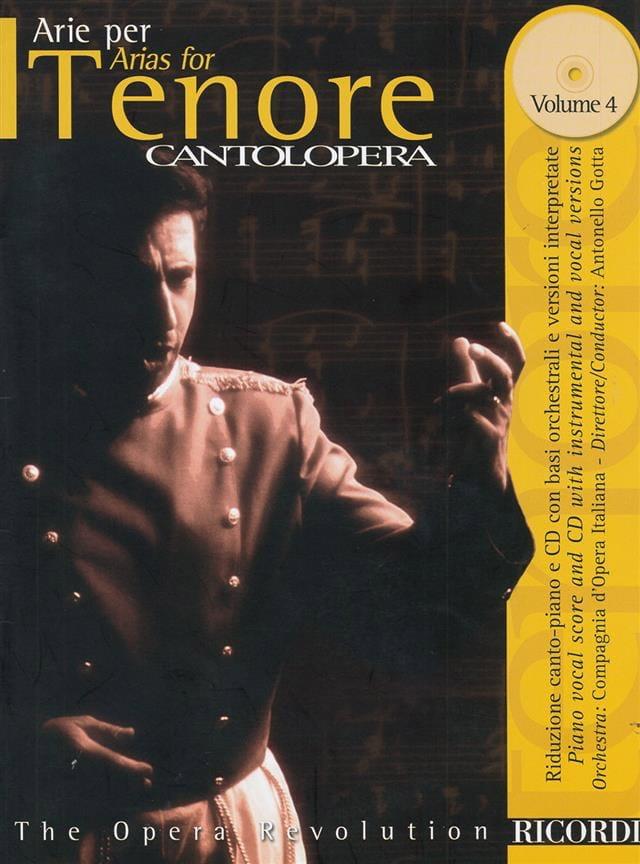 Arie Per Tenore Volume 4 - Partition - Opéras - laflutedepan.com