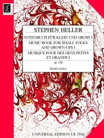 Stephen Heller - Notenbuch Fur Klein Und Gross Op. 138 Volume 1 - Partition - di-arezzo.co.uk