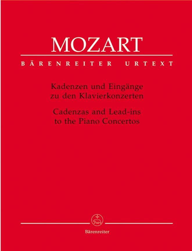 Cadences pour les concertos pour piano - MOZART - laflutedepan.com