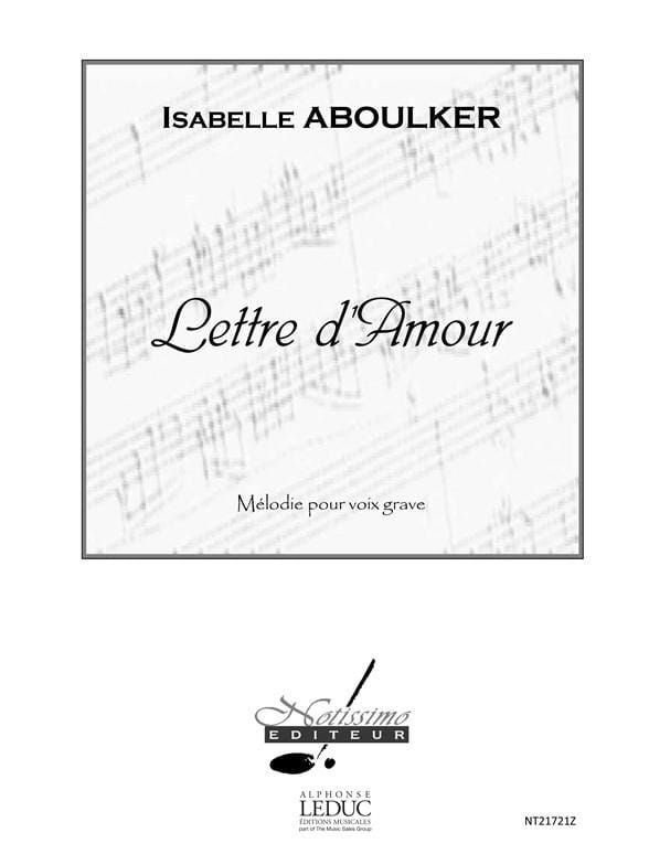 Isabelle Aboulker - Love letter. Deep voice - Partition - di-arezzo.com