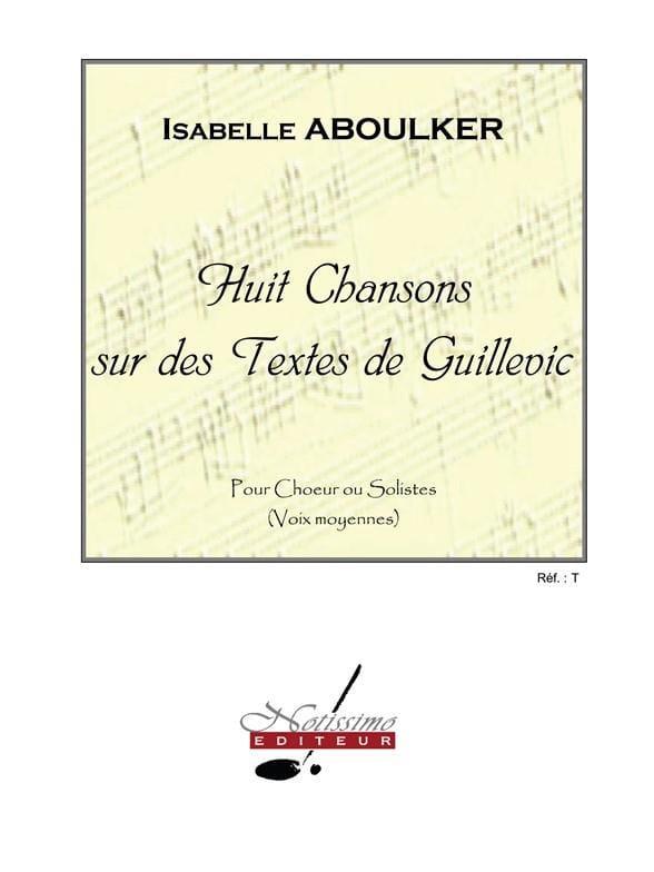 Isabelle Aboulker - 8 canciones en textos guillevic - Partition - di-arezzo.es