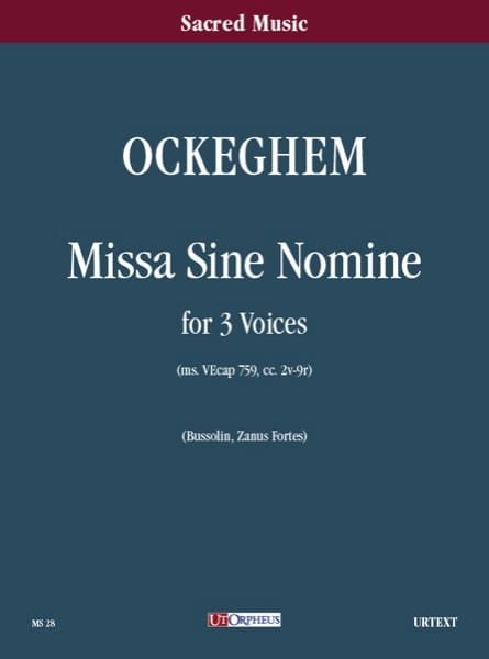 Missa Sine Nomine A 3 Voci - Johannes Ockeghem - laflutedepan.com