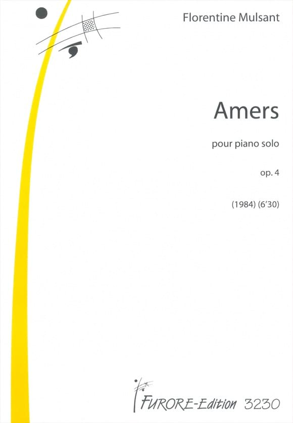 Amers Opus 4 - Florentine Mulsant - Partition - laflutedepan.com