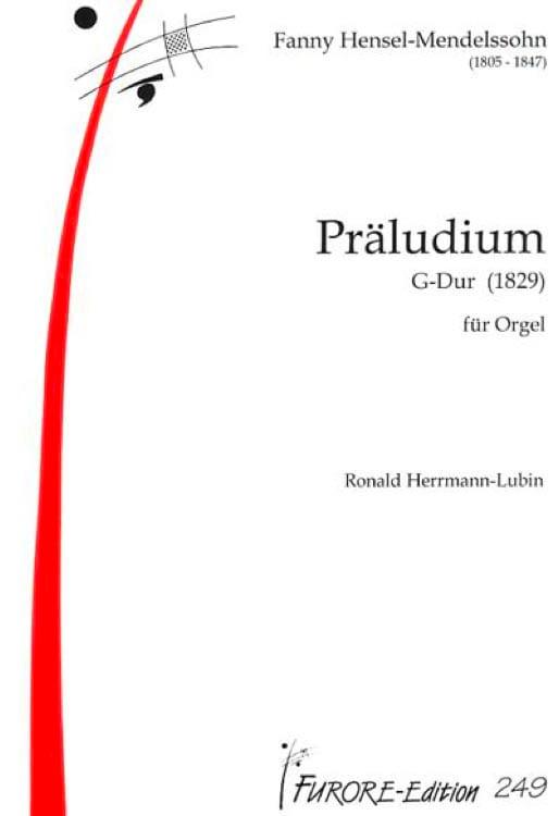 Prélude En Sol Majeur - Fanny Hensel-Mendelssohn - laflutedepan.com