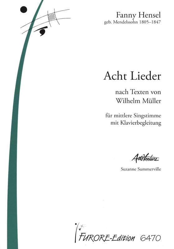 8 Lieder Voix Moyenne - Fanny Hensel-Mendelssohn - laflutedepan.com