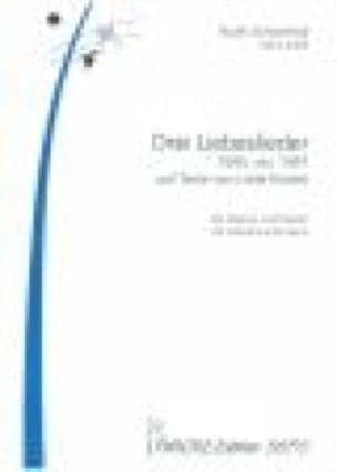 3 Liebeslieder - Ruth Schonthal - Partition - laflutedepan.com