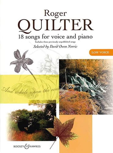 Roger Quilter - 18 Songs. Deep voice - Partition - di-arezzo.com