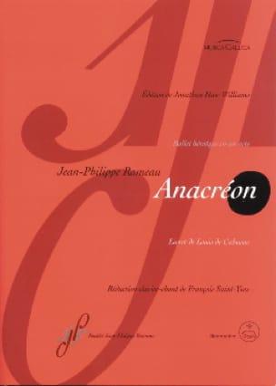 Jean-Philippe Rameau - Anacreon - Partition - di-arezzo.co.uk