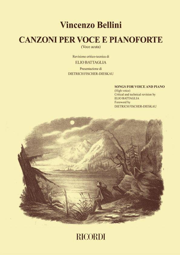 Vincenzo Bellini - Canzoni Per Voce and Pianoforte Voice High Volume 1 - Partition - di-arezzo.com