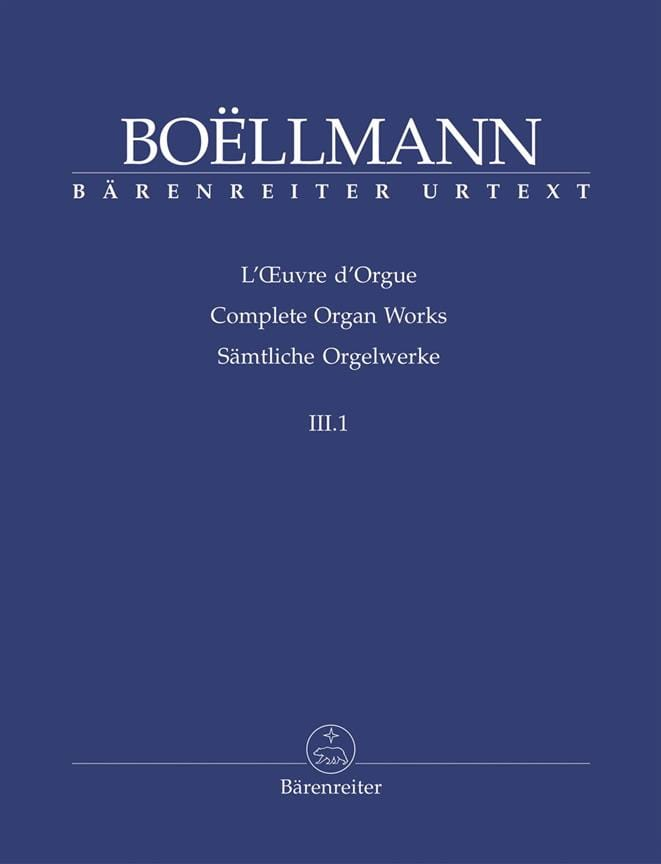 Léon Boëllmann - Organ Work Volume 3-1 - Partition - di-arezzo.com