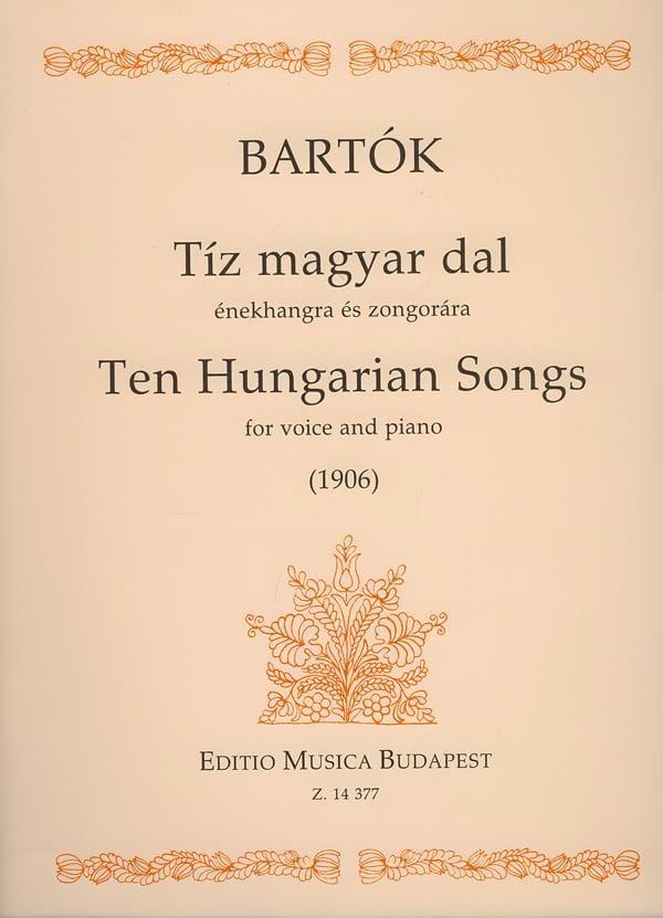 10 Hungarian Songs - BARTOK - Partition - Mélodies - laflutedepan.com