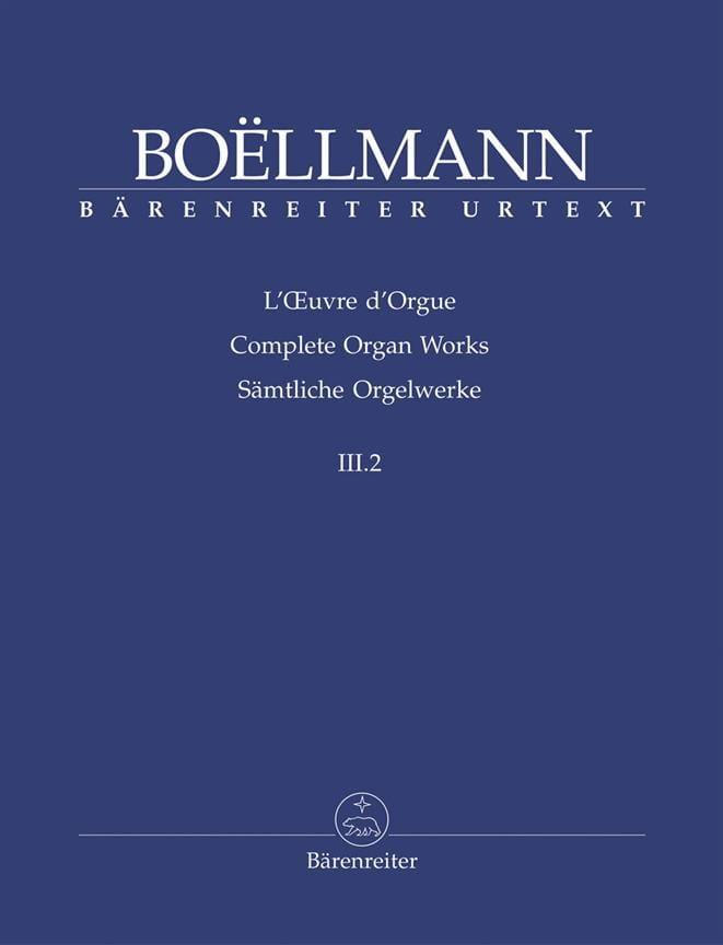 Léon Boëllmann - Organ Work Volume 3-2. - Partition - di-arezzo.co.uk