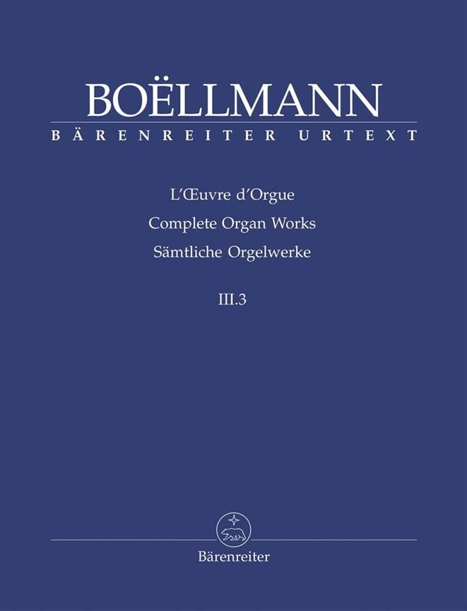 Léon Boëllmann - Organ Work Volume 3-3. - Partition - di-arezzo.com