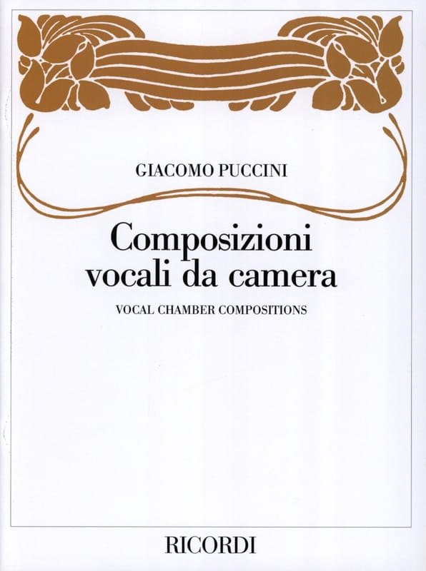 Composizioni Vocali Da Camera - PUCCINI - Partition - laflutedepan.com