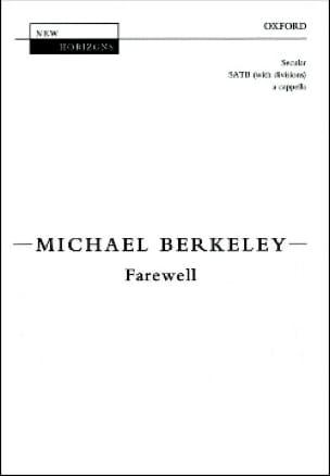 Farewell - Berkeley - Partition - Chœur - laflutedepan.com