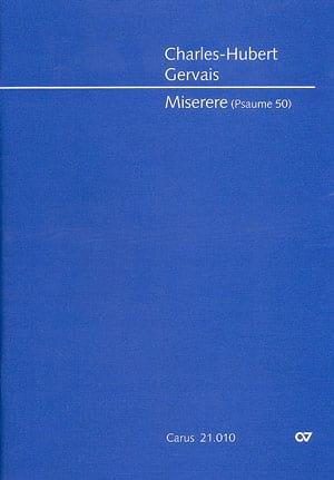 Miserere. Conducteur - Charles-Hubert Gervais - laflutedepan.com