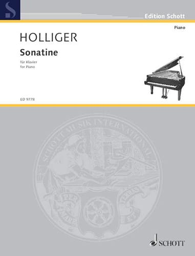 Sonatine - Heinz Holliger - Partition - Piano - laflutedepan.com