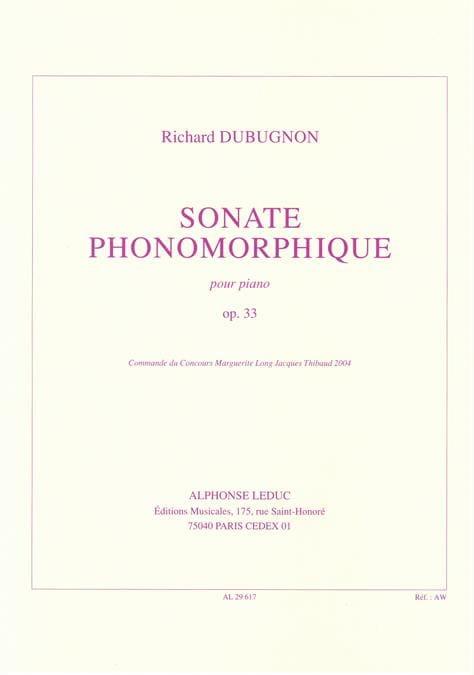 Sonate Phonomorphique Op. 33 - Richard Dubugnon - laflutedepan.com