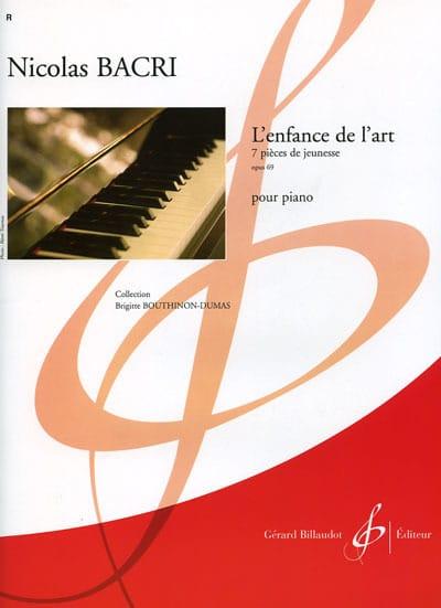 L'enfance de L'art Op. 69 - Nicolas Bacri - laflutedepan.com