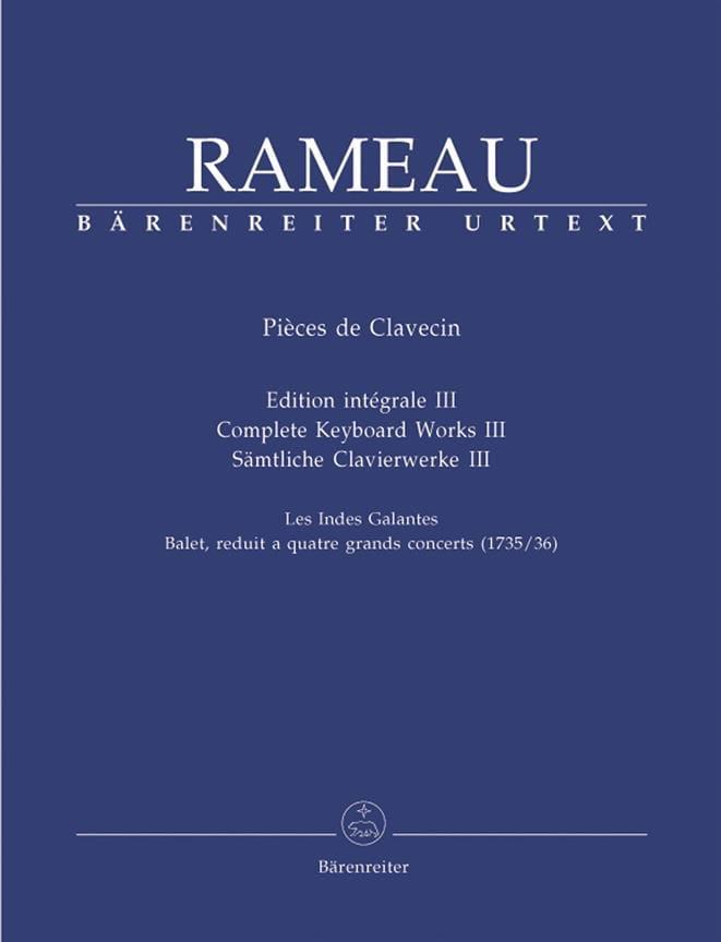 Jean-Philippe Rameau - Harpsichord Parts Volume 3 - Partition - di-arezzo.co.uk