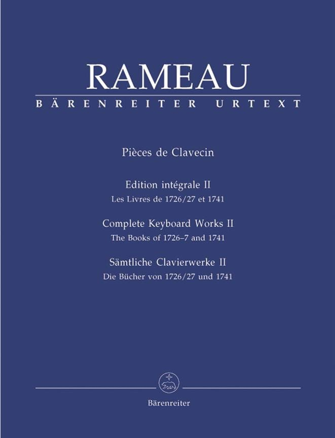 Jean-Philippe Rameau - Volumen 2 de Clapsichord Parts - Partition - di-arezzo.es