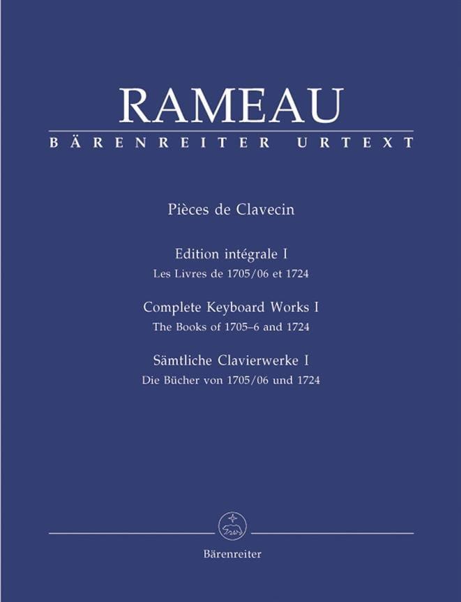 Jean-Philippe Rameau - Harpsichord Parts Volume 1 - Partition - di-arezzo.co.uk