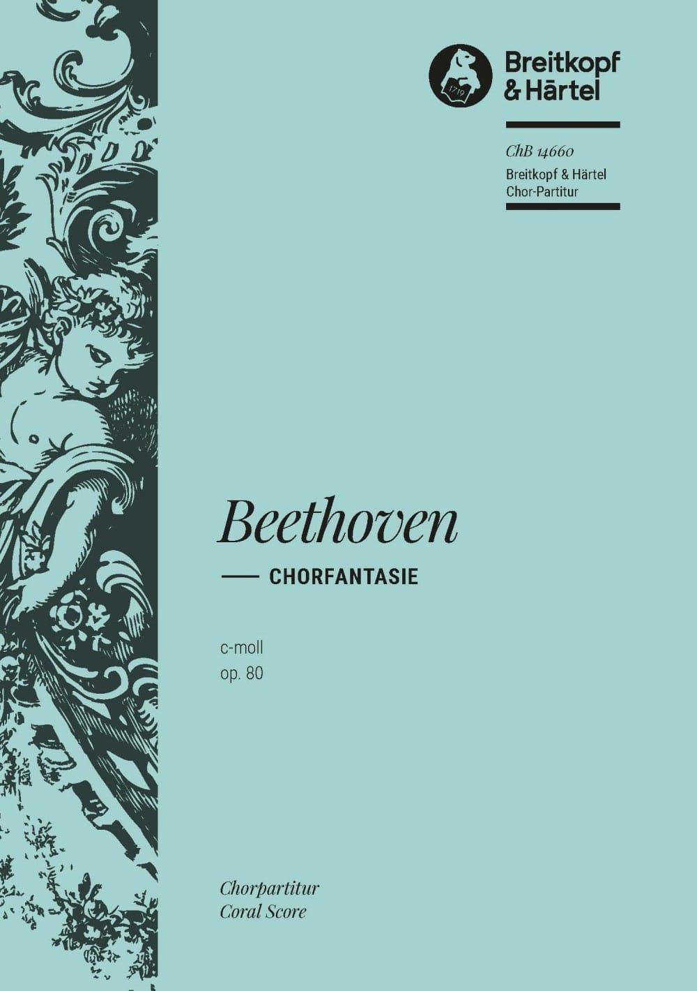 Fantaisie Opus 80. - BEETHOVEN - Partition - Chœur - laflutedepan.com