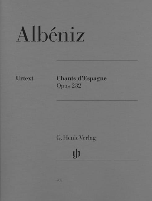 Chants d' Espagne Opus 232 - ALBENIZ - Partition - laflutedepan.com