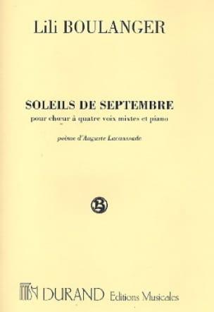 Lili Boulanger - Soleils de Septembre - Partition - di-arezzo.fr