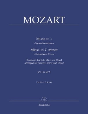 Missa Solemnis K 139. Version Orgue - MOZART - laflutedepan.com