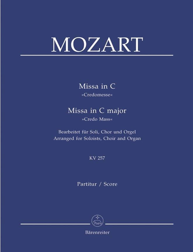 Missa in C Credo-Messe KV 257. Version Choeur Orgue - laflutedepan.com