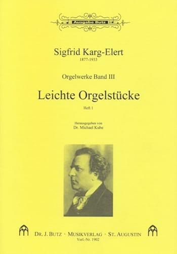 Leichte Orgelstücke Volume 1 - Sigfrid Karg-Elert - laflutedepan.com