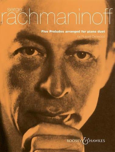 RACHMANINOV - 5 Preludes. 4 Hands - Partition - di-arezzo.co.uk