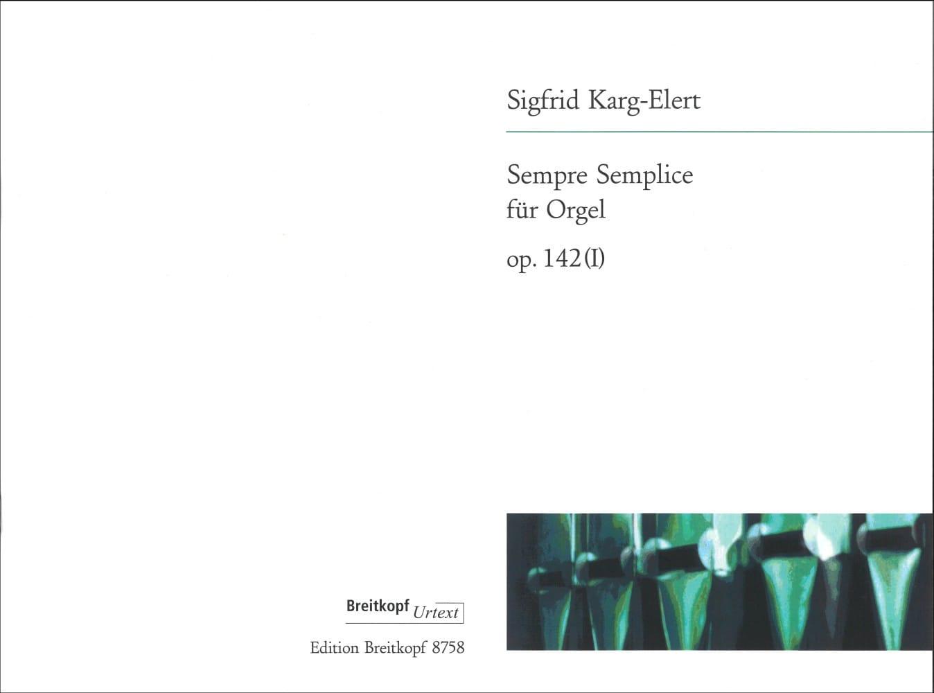 Sempre Semplice Op. 142-1 - Sigfrid Karg-Elert - laflutedepan.com