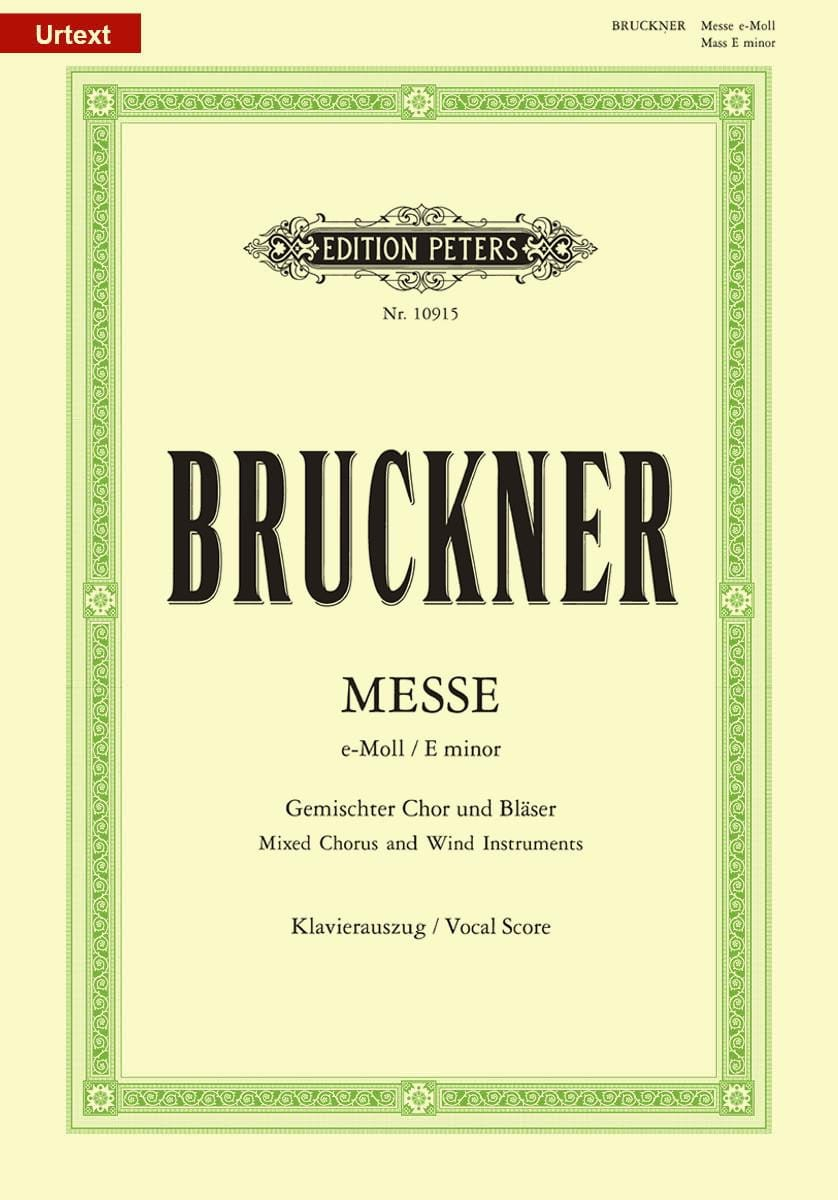 Messe En Mi Mineur WAB 27 - BRUCKNER - Partition - laflutedepan.com