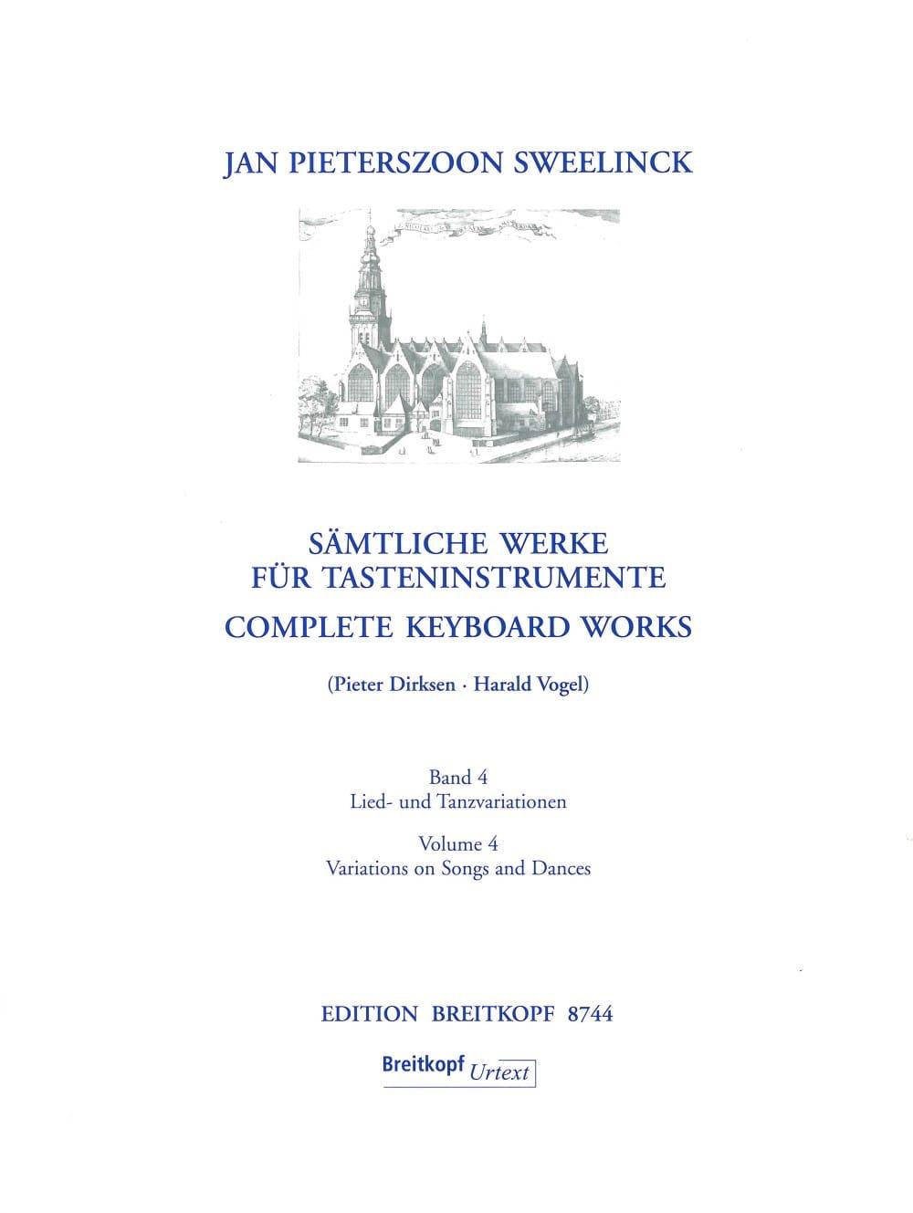 Jan Pieterszoon Sweelinck - Sämtliche Werke Für Tasteninstrumente Volume 4 - Partition - di-arezzo.fr