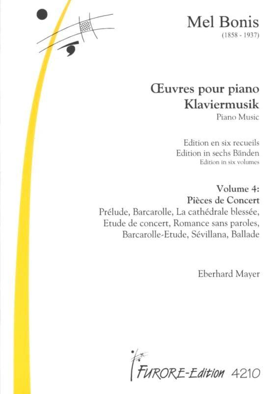 Mel Bonis - Piano Works Volume 4: Concert Pieces - Partition - di-arezzo.co.uk