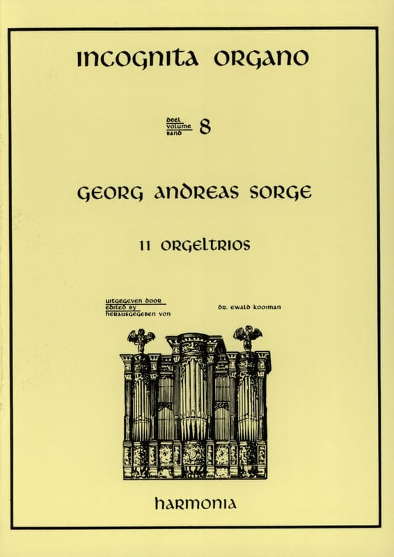 11 Orgeltrios - Georg Andreas Sorge - Partition - laflutedepan.com