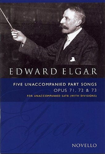 ELGAR - 5 Unaccompanied Part Songs Opus 71, 72, 73 - Partition - di-arezzo.com