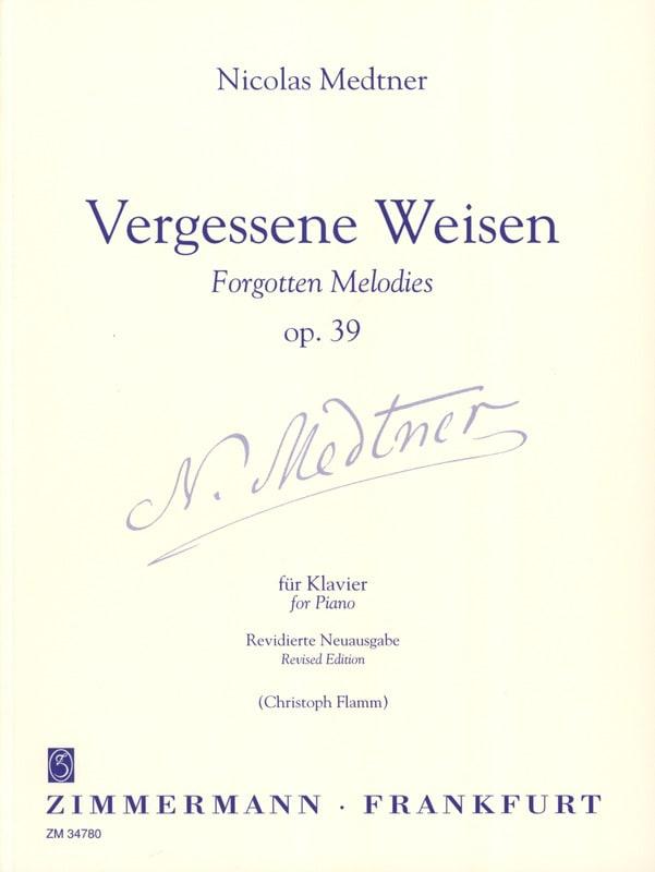 Nicolai Medtner - Vergessene Weise Op. 39 - Partition - di-arezzo.es