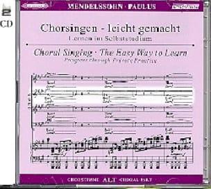 Paulus Opus 36. 2 CD Alto - MENDELSSOHN - Partition - laflutedepan.com