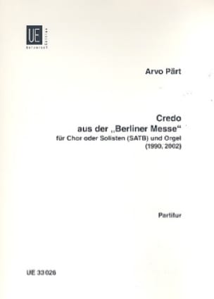 Credo de la Berliner Messe - PÄRT - Partition - laflutedepan.com