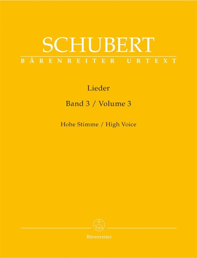 Lieder Volume 3. Voix Haute. - SCHUBERT - Partition - laflutedepan.com