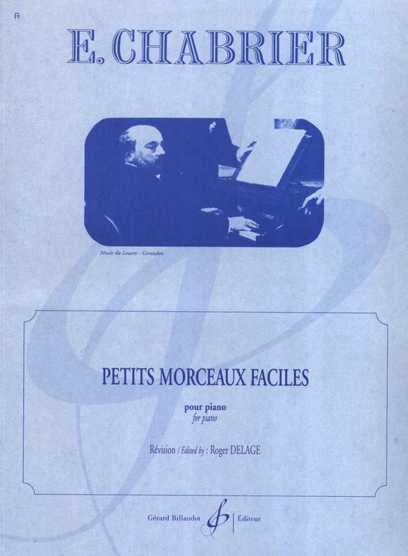 Petits Morceaux Faciles - CHABRIER - Partition - laflutedepan.com