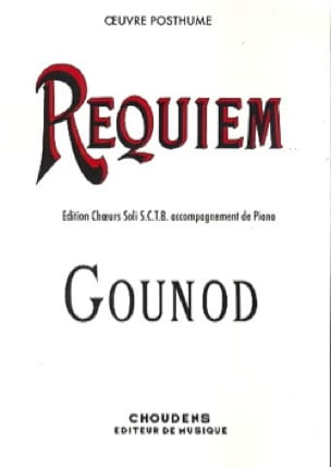 Charles Gounod - Requiem. Version A - Partition - di-arezzo.co.uk