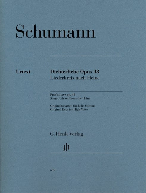 SCHUMANN - Dichterliebe Opus 48. - Partition - di-arezzo.co.uk